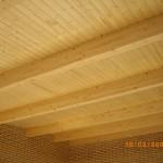 Cubierta de panel sandwich friso de madera