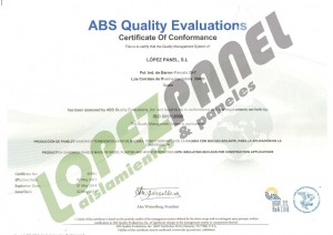 CERTIFICADO ISO LOPEZ PANEL Web